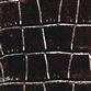 Crocodile texture embossed onto black calfskin