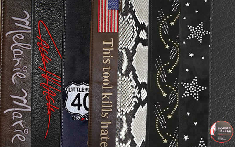 Custom Embroidered Guitar Straps