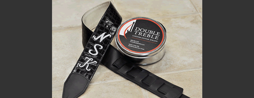 Double Treble Creates the finest quality Custom leather guitar straps.